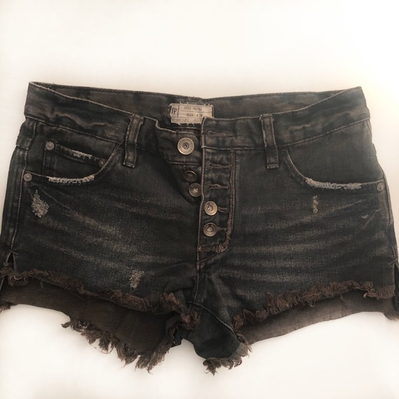 Free People Pants - Free People distressed cut off jean shorts size 24